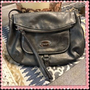 Small pewter color  Nine West crossbody bag
